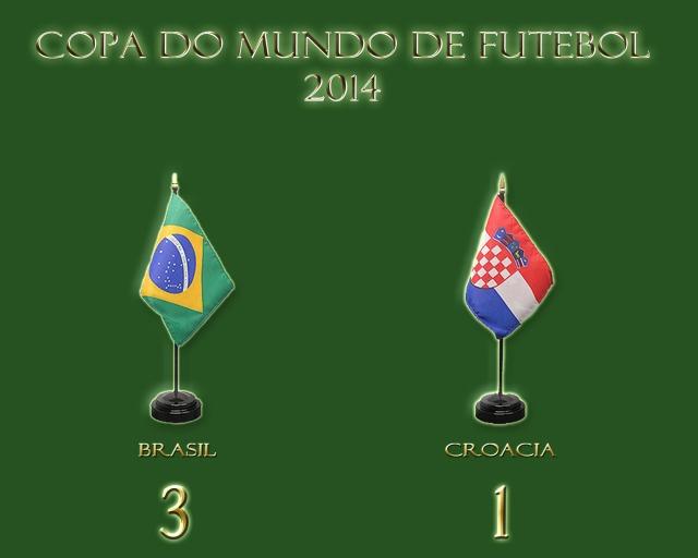 Brasil vence na estréia da Copa, com resultado contestável !